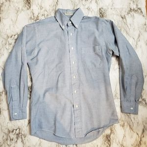 Vtg LL Bean Men's Chambray Button Down Shirt 15-33